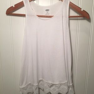 Girl's Tank Top With Lace Bottom